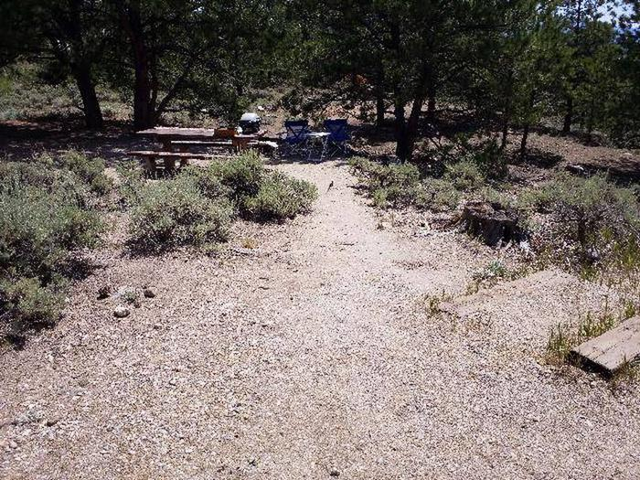Lakeview Campground, site E13 picnic table
