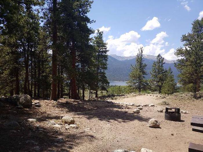 Lakeview Campground, site F6 view 1