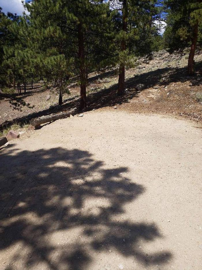 Lakeview Campground, site F6 parking 1