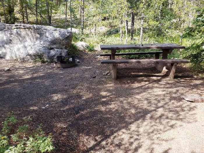 May Queen Campground, site 2 picnic table
