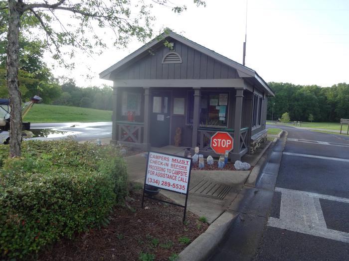 Gatehouse at Foscue Creek Campground.Gatehouse