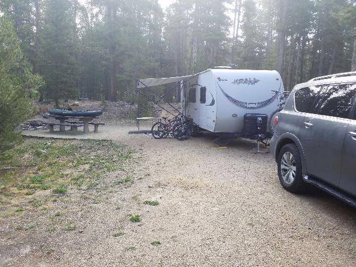 Molly Brown campground, site 7 parking