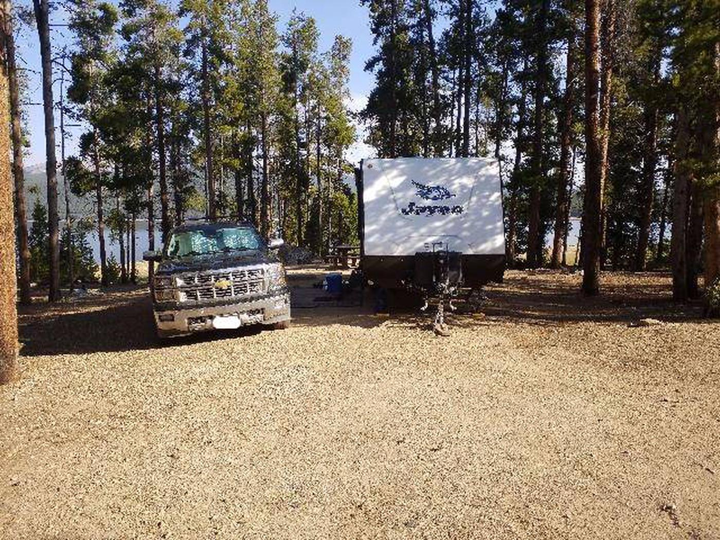 Molly Brown Campground, site 12 parking