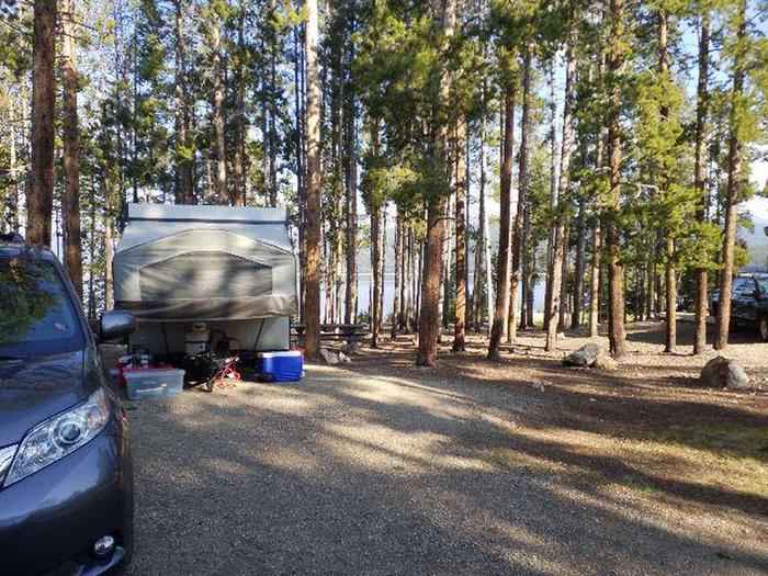 Molly Brown Campground, site 13 parking