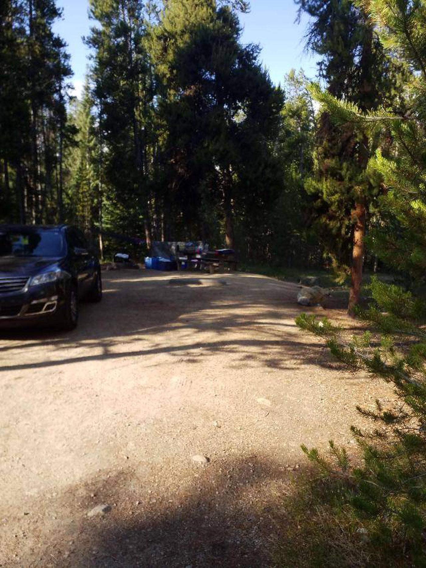 Molly Brown Campground, site 14 parking