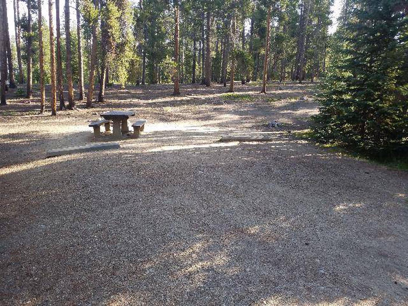 Molly Brown Campground, site 15 parking