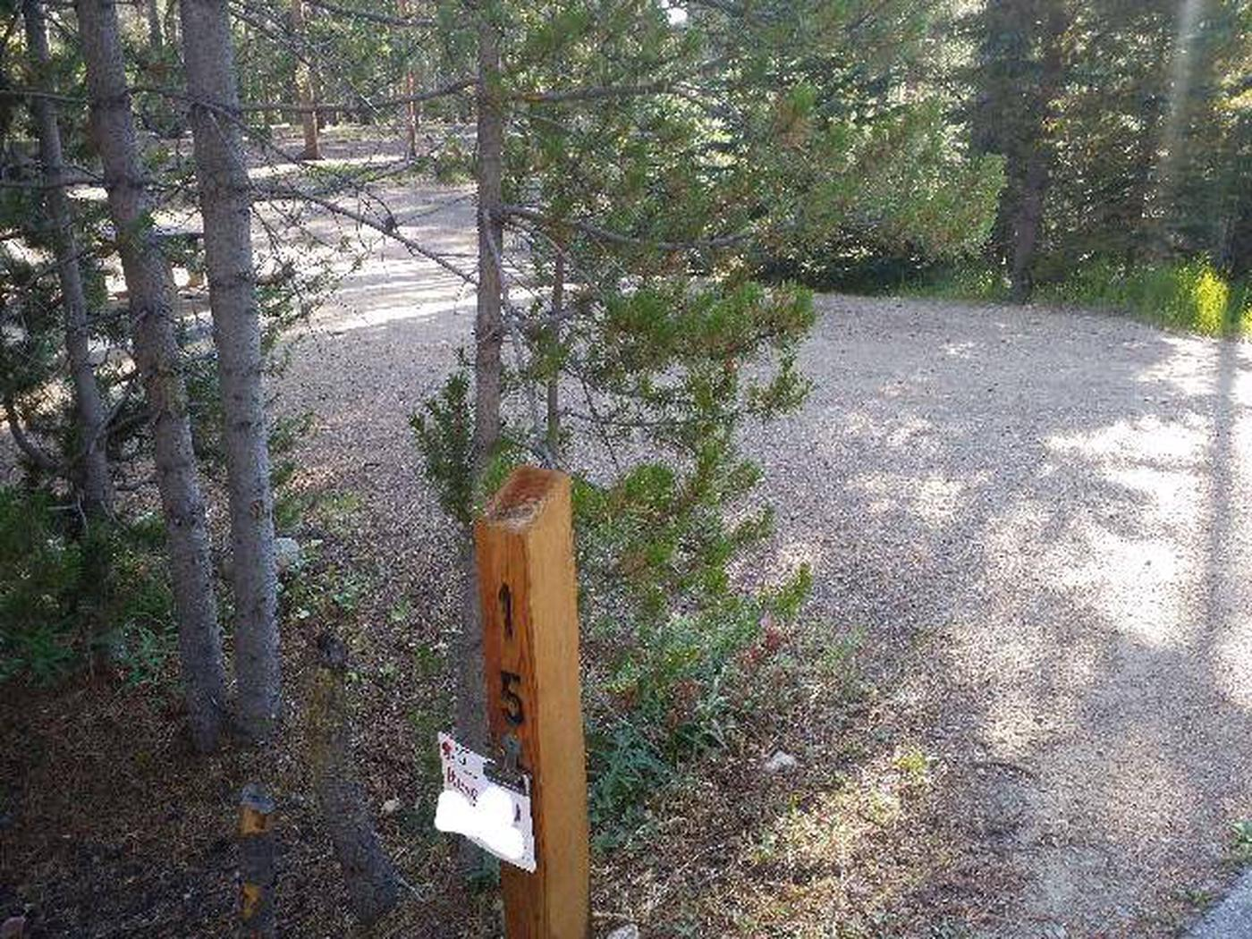 Molly Brown Campground, site 15 marker