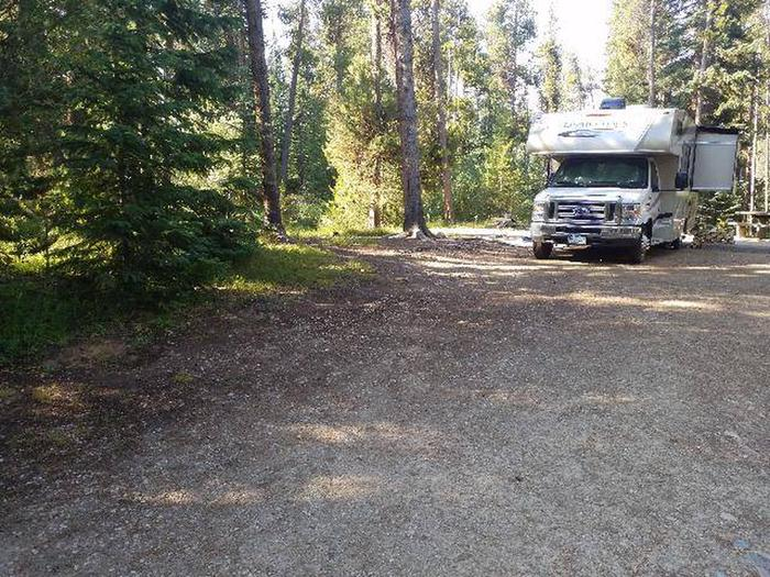 Molly Brown Campground, site 16 parking