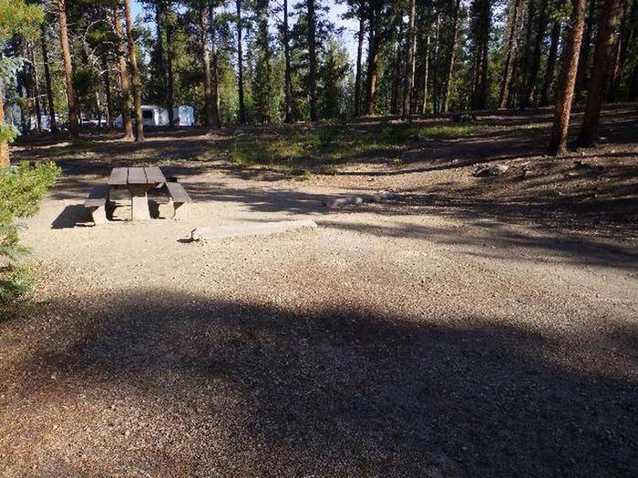 Molly Brown Campground, site 17 parking