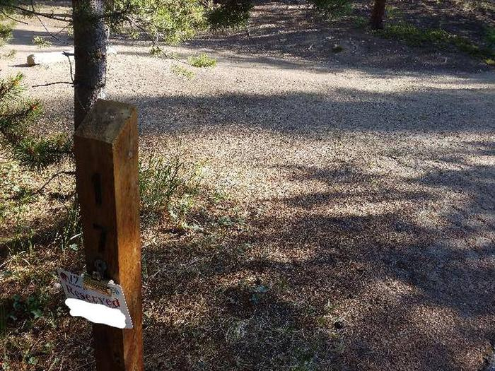 Molly Brown Campground, site 17 marker