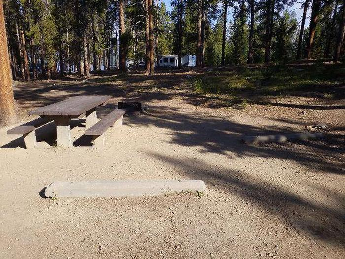 Molly Brown Campground, site 17 picnic table