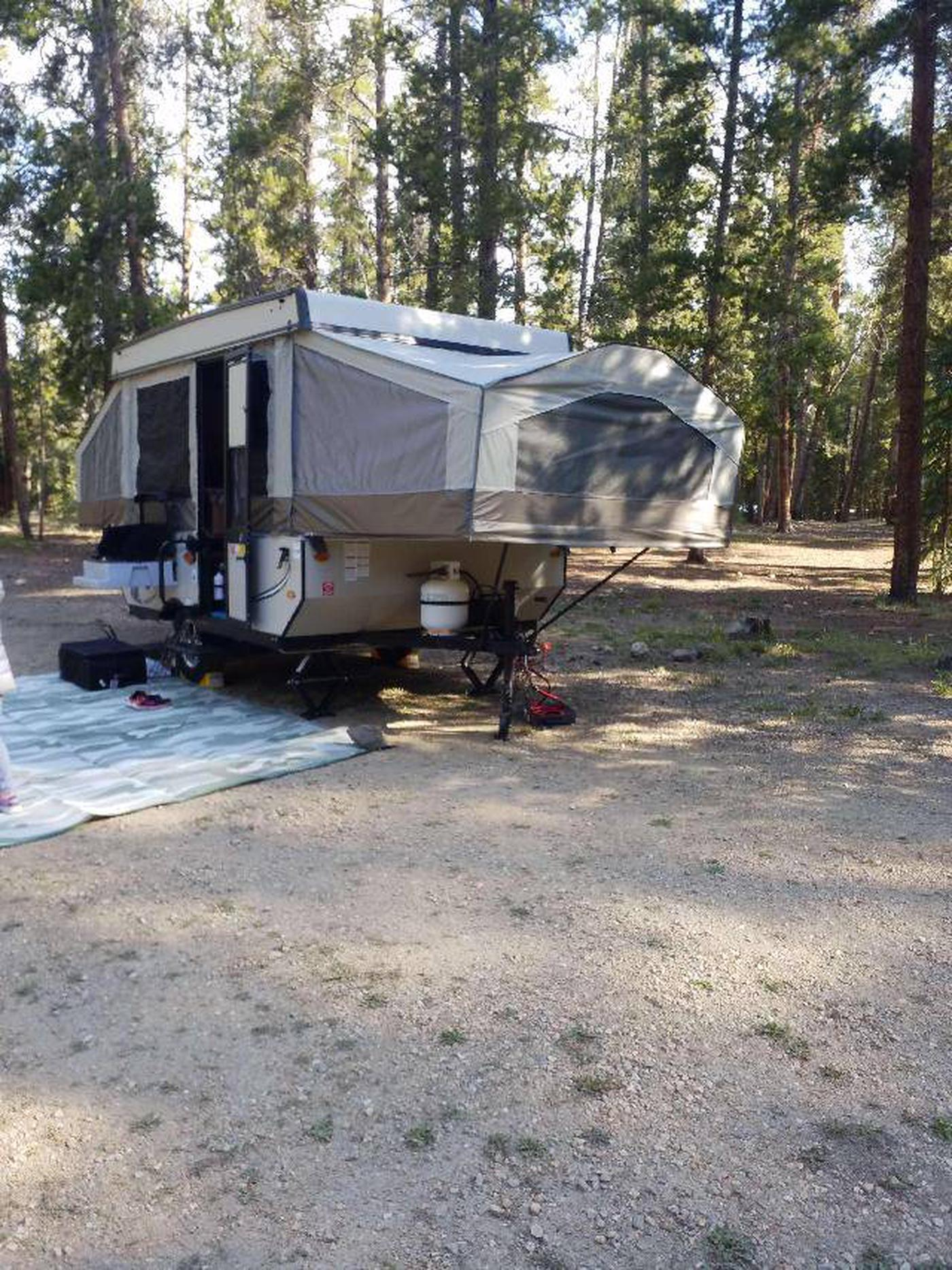 Molly Brown Campground, site 19 parking