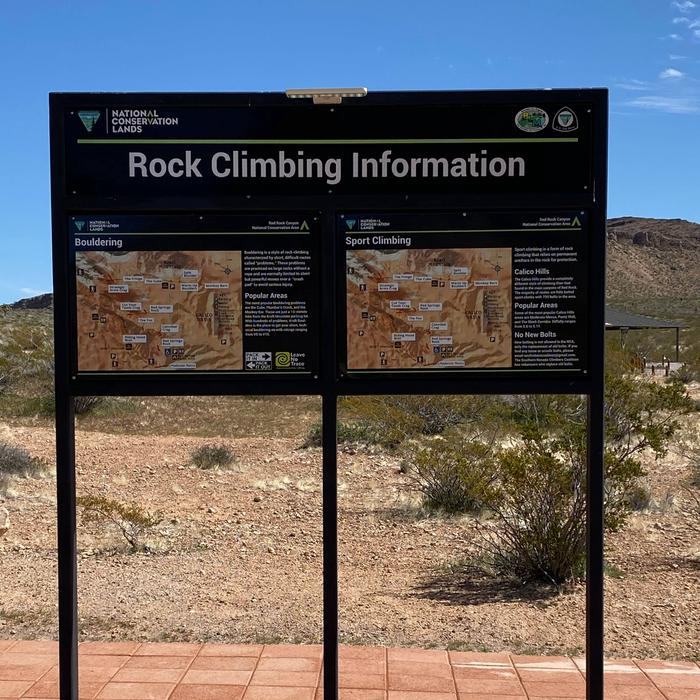 Red Rock Climibing kiosk