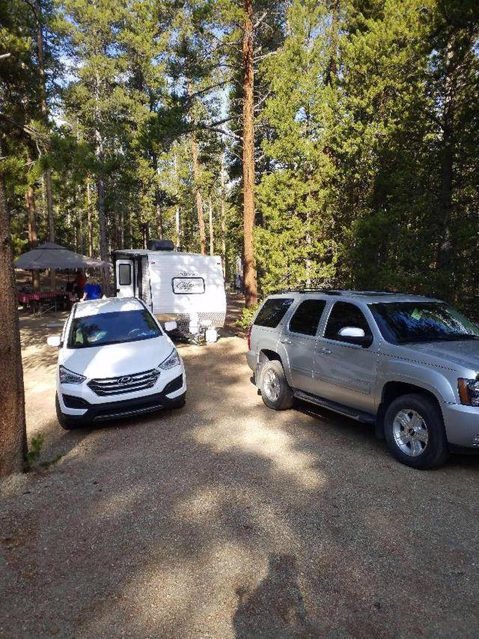 Molly Brown Campground, site 24 parking
