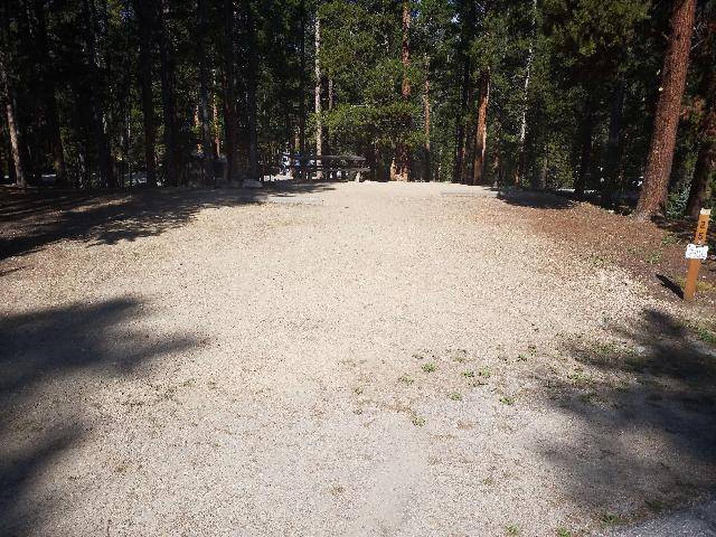 Molly Brown Campground, site 25 parking