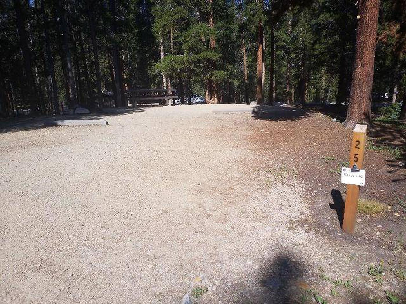 Molly Brown Campground, site 25 marker