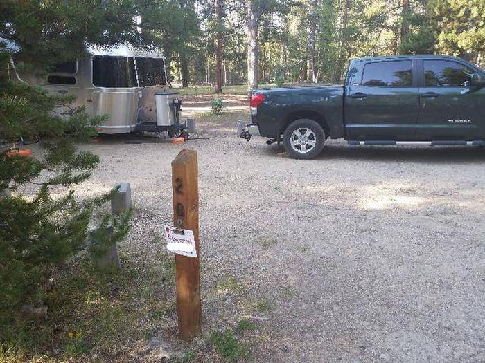 Molly Brown Campground, site 28 marker