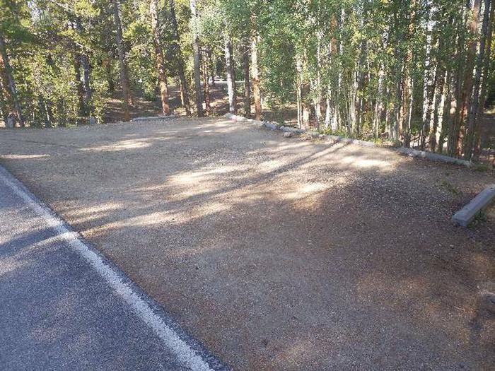 Molly Brown Campground, site 32 parking