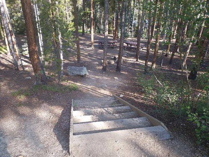Molly Brown Campground, site 32 stairs