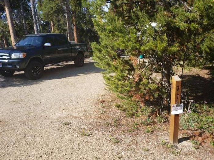 Molly Brown Campground, site 37 marker