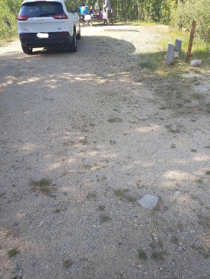 Molly Brown Campground, site 38 parking