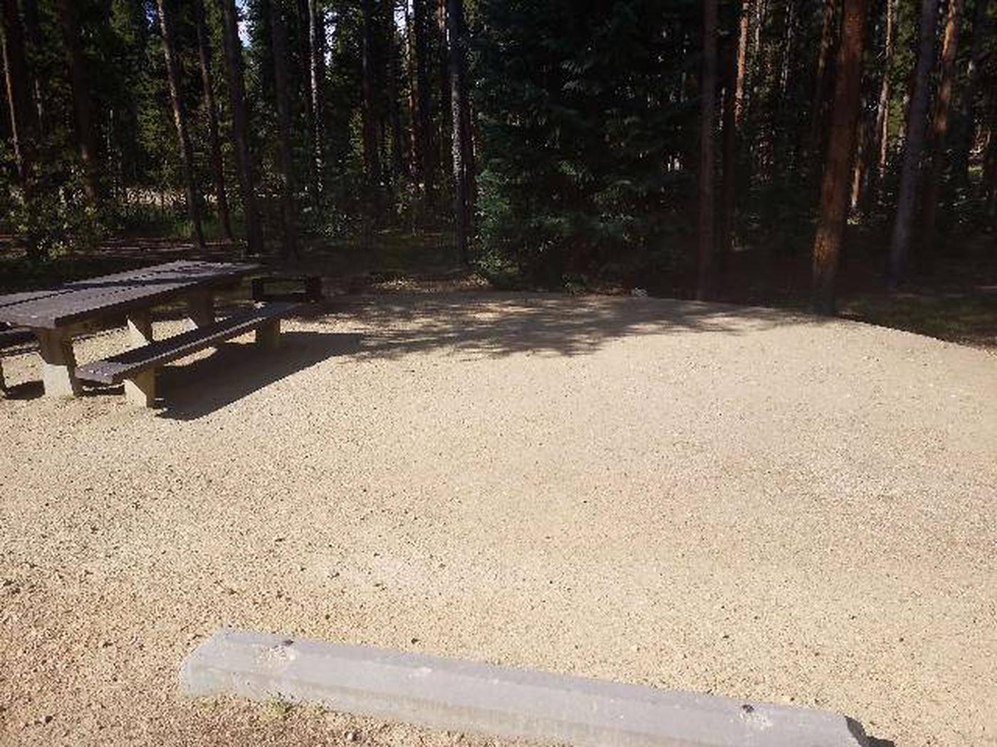 Molly Brown Campground, site 46 picnic table