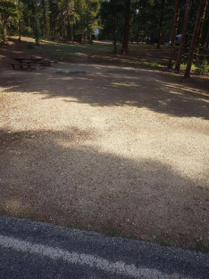 Molly Brown Campground, site 42 parking