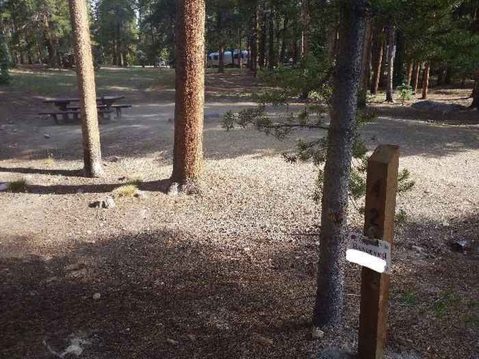 Molly Brown Campground, site 42 marker