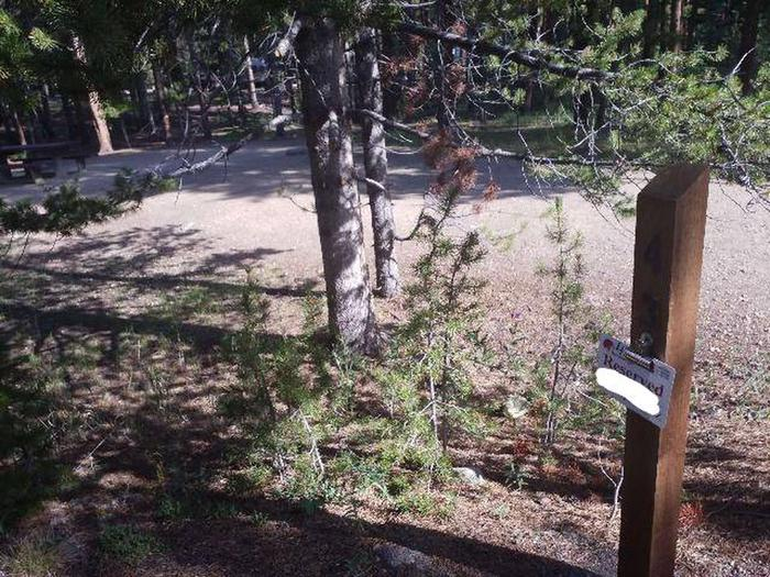 Molly Brown Campground, site 43 marker