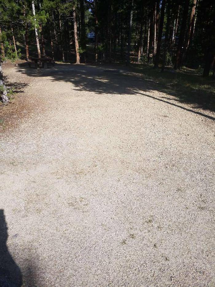 Molly Brown Campground, site 43 parking