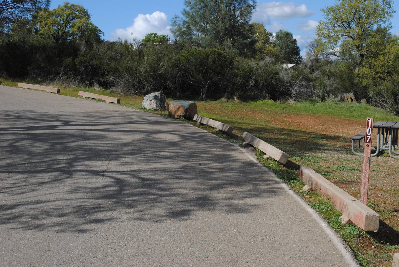 Acorn Campground Site 107 parkingPull through