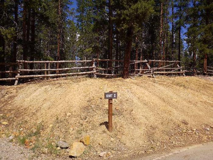 Printer Boy Group Campground, Site 1 marker