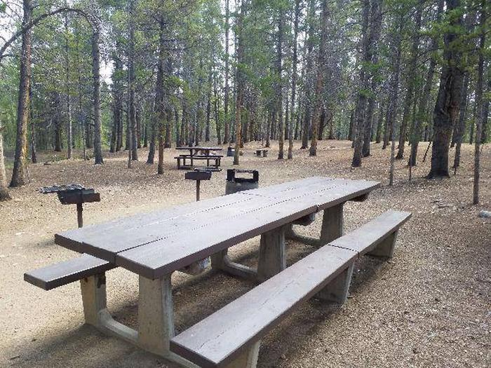 Printer Boy Group Campground, Site 3 picnic table