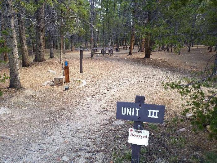 Printer Boy Group Campground, Site 3 marker