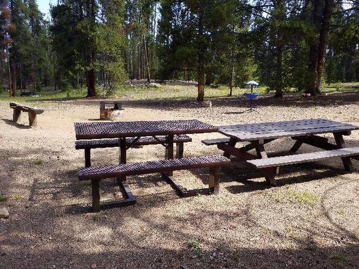 Printer Boy Group Campground, Site 4 picnic tables and benches