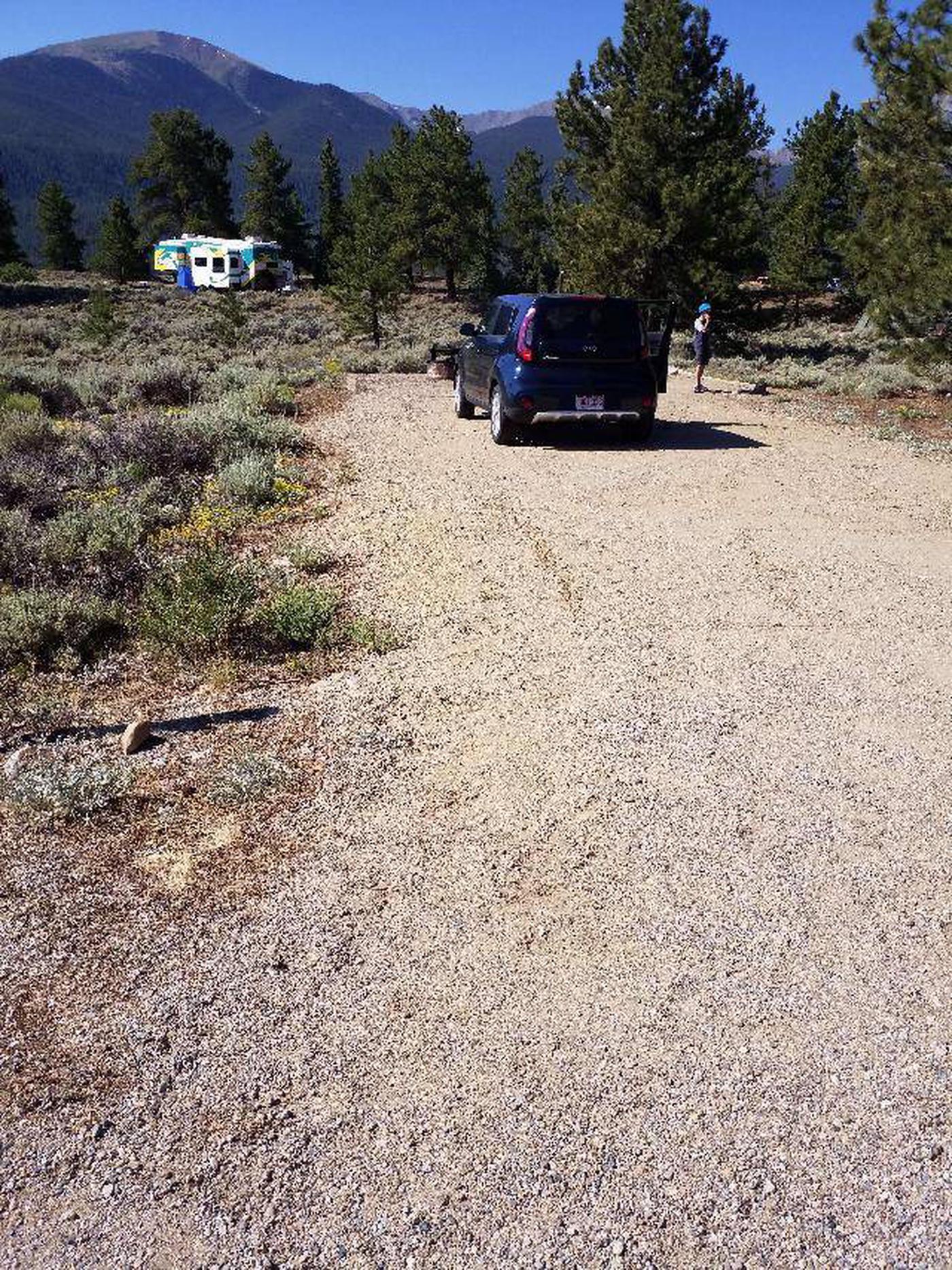 Whitestar Campground, site 1 parking
