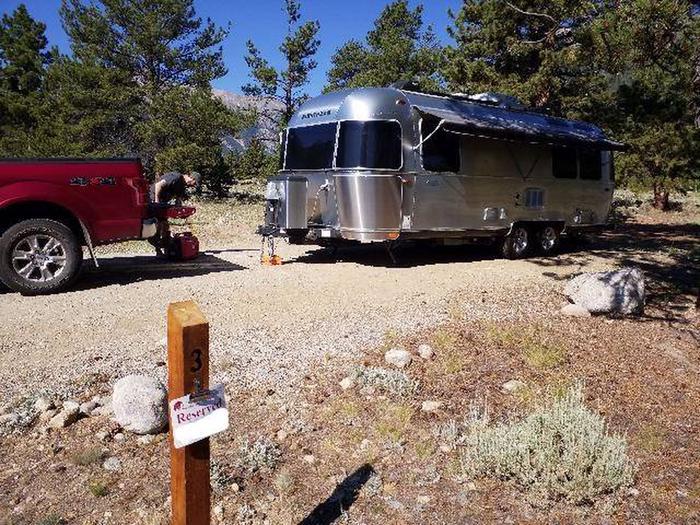 White star Campground, site 3 marker