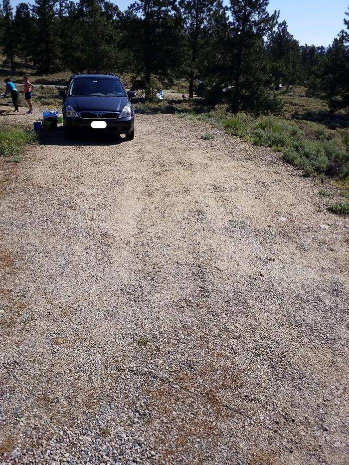 White star Campground, site 4 parking