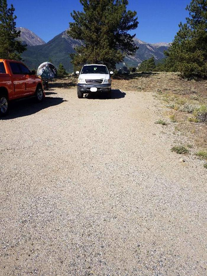 White Star Campground, site 6 parking
