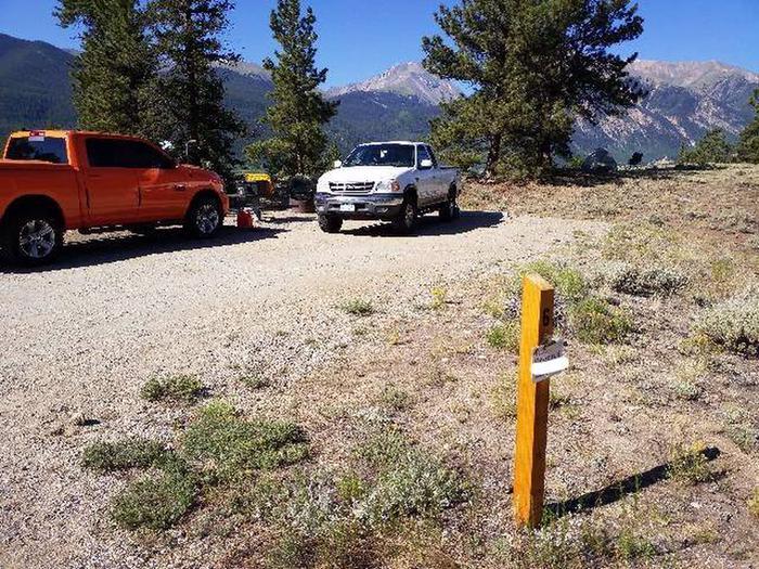 White Star Campground, site 6 marker