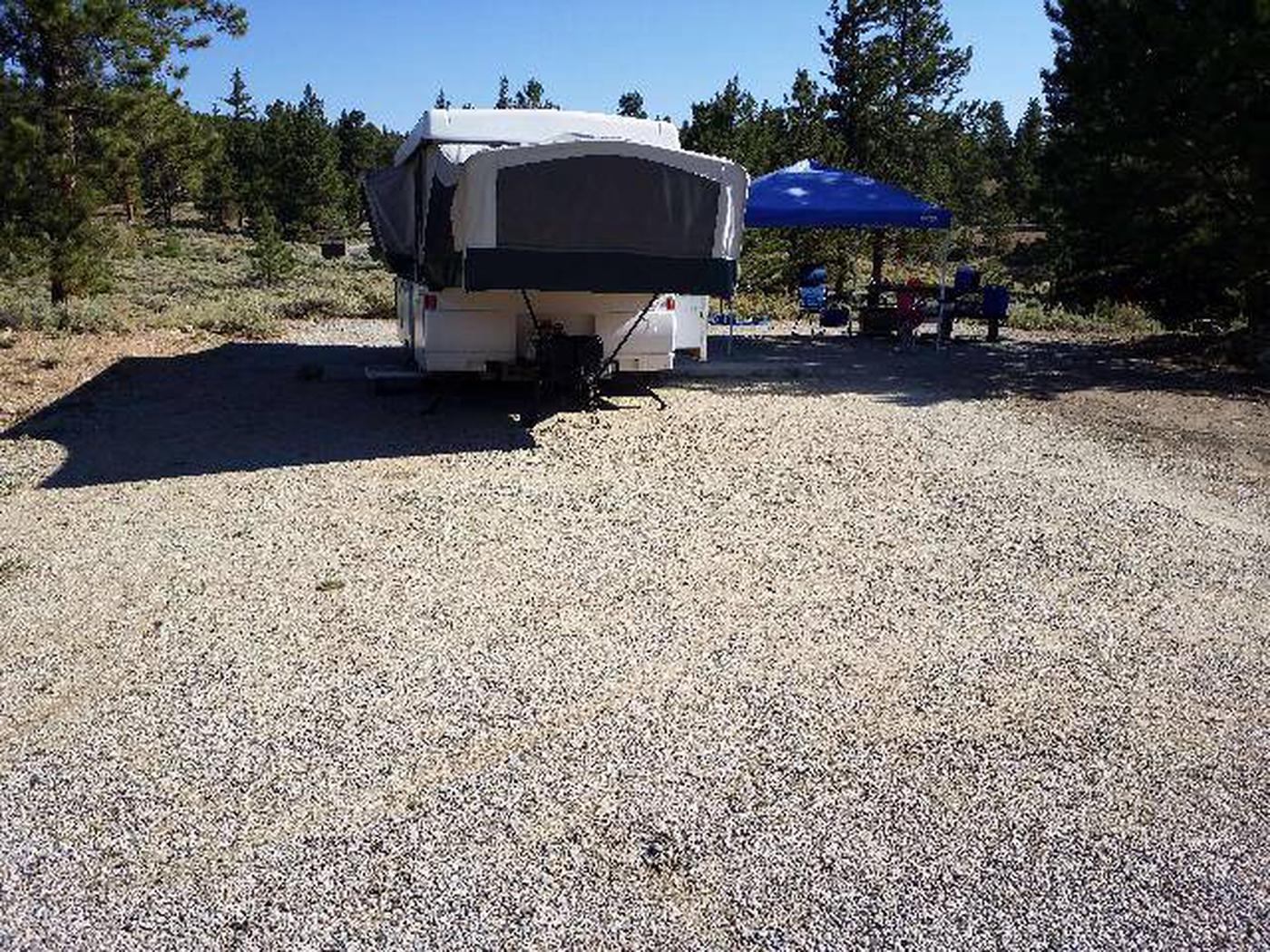 White Star Campground, site 9 parking