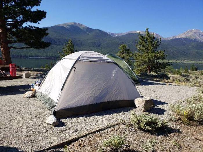 White Star Campground, site 10 tent pad