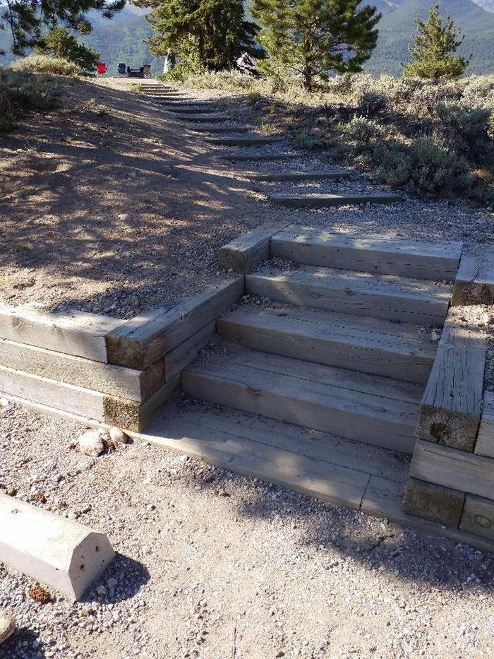 White Star Campground, site 10 stairs