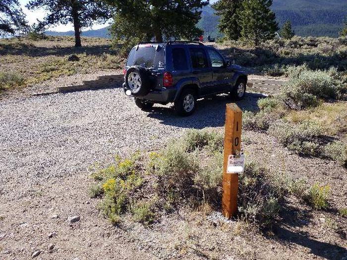 White Star Campground, site 10 marker