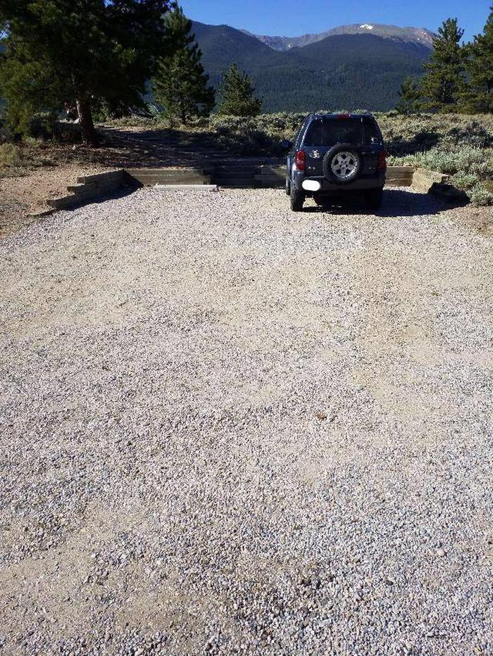 White Star Campground, site 10 parking