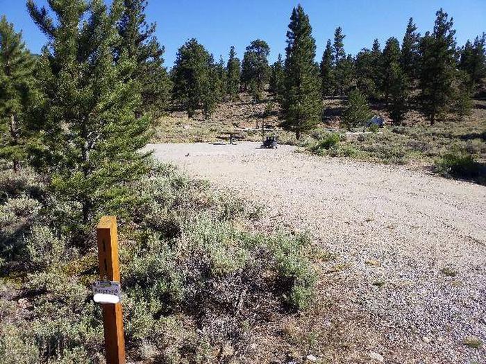 White Star Campground, site 11 marker