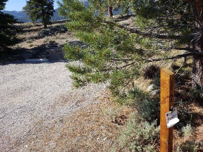 White Star Campground, site 12 marker