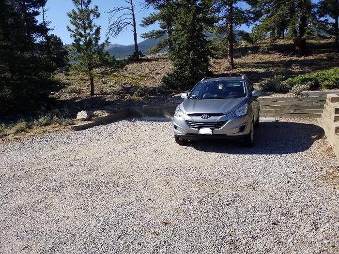 White Star Campground, site 14 parking