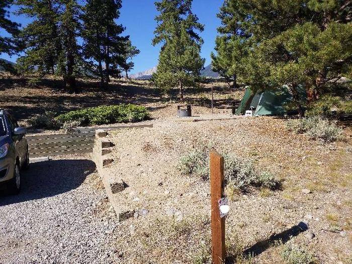 White Star Campground, site 14 marker