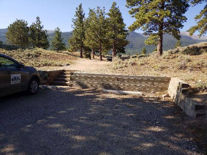 White Star Campground, site 16 parking